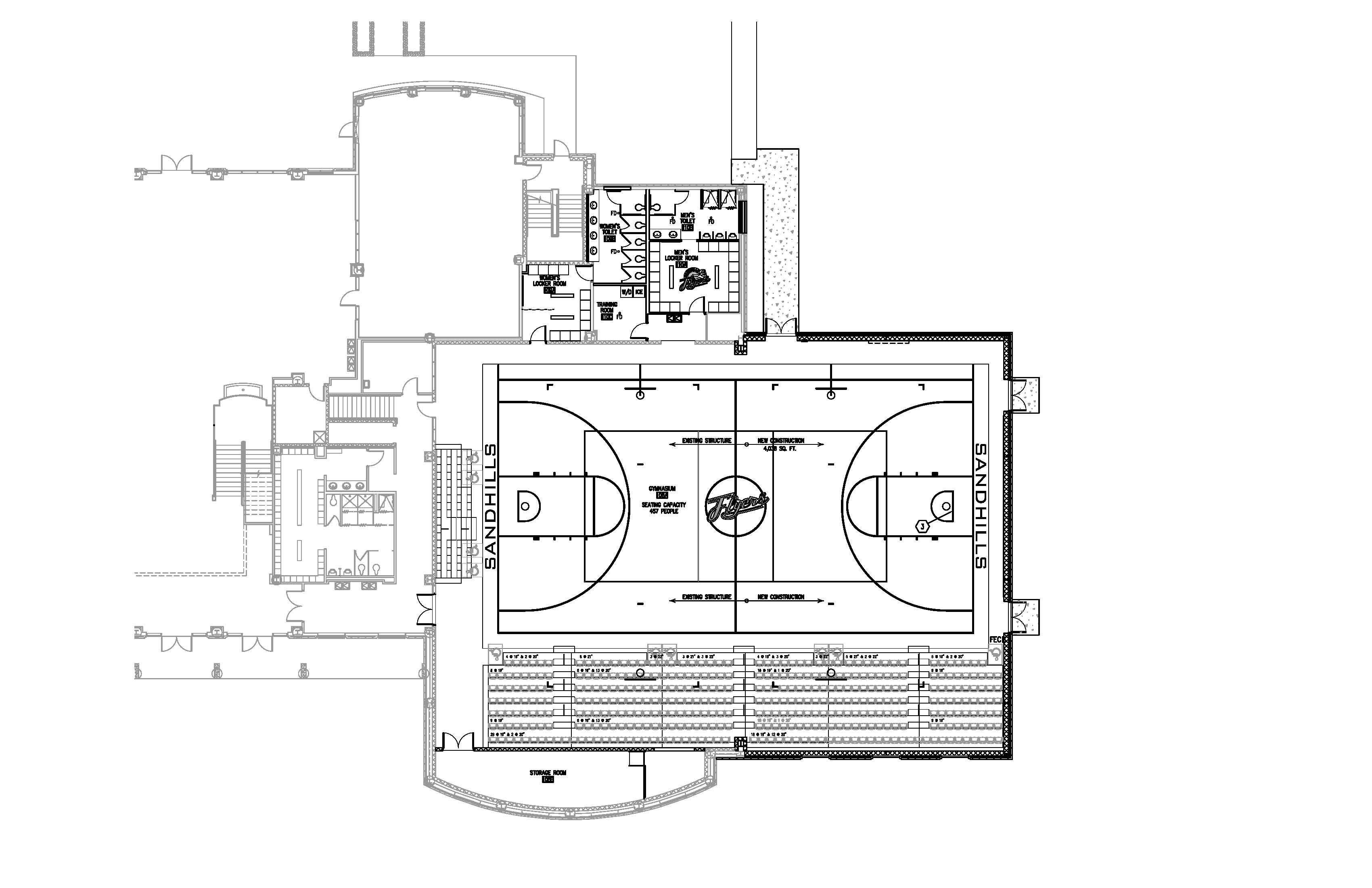 Cornerstone health care corporate headquarters for Basketball gym floor plan